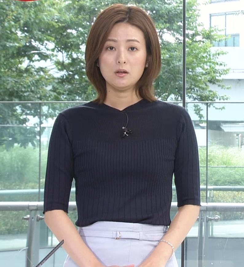 徳島えりかアナ ニットおっぱいキャプ・エロ画像