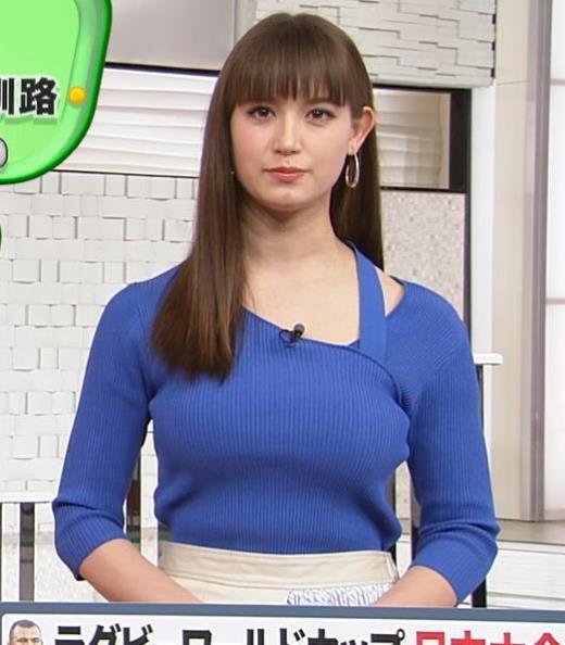 トラウデン直美 巨乳ニットキャプ画像(エロ・アイコラ画像)