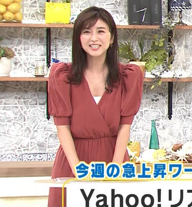 宇賀なつみ またお辞儀で大胆胸チラ(動画)キャプ・エロ画像7