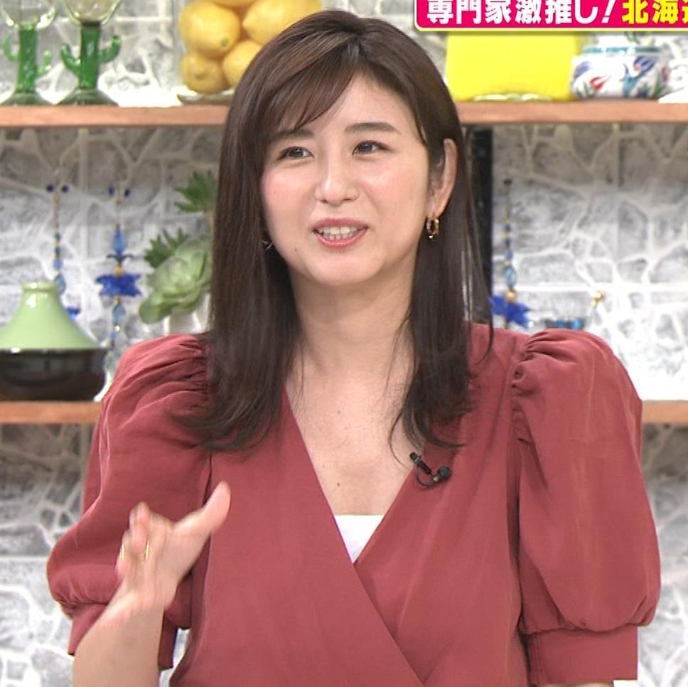 宇賀なつみ またお辞儀で大胆胸チラ(動画)キャプ・エロ画像9