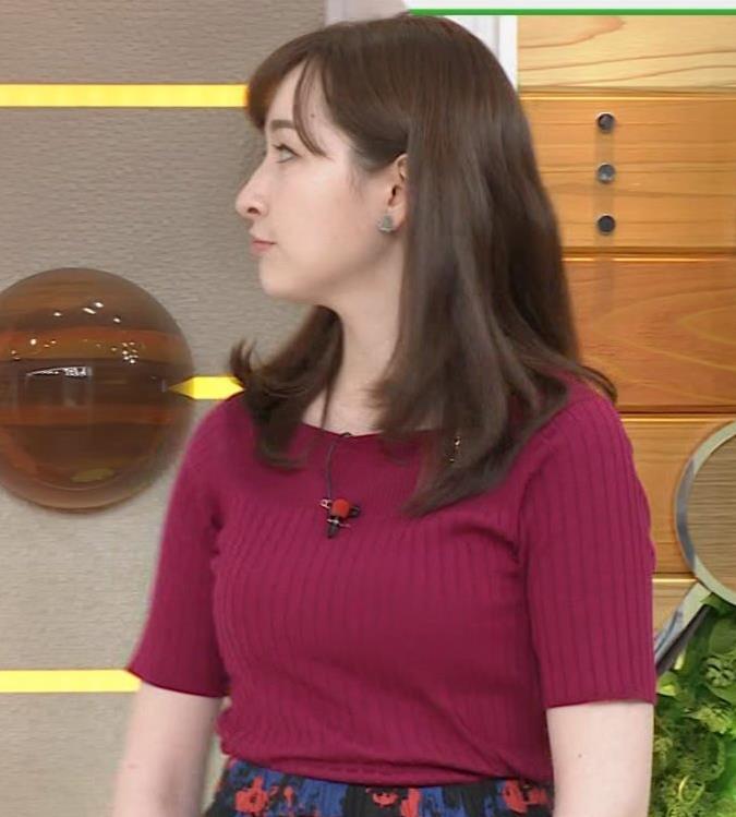 宇賀神メグ 美人アナの極上ニットおっぱいキャプ・エロ画像2