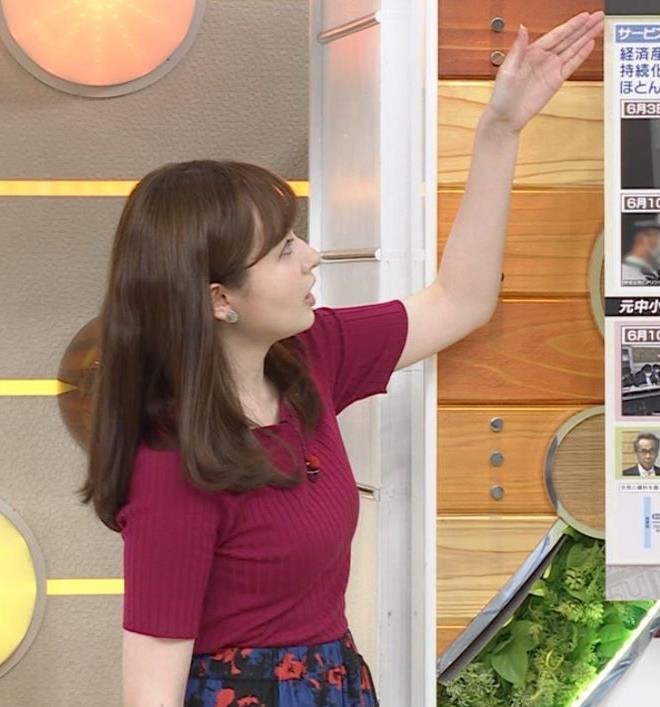 宇賀神メグ 美人アナの極上ニットおっぱいキャプ・エロ画像6