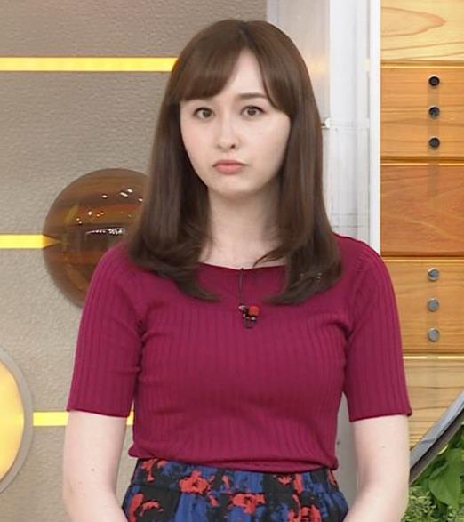 宇賀神メグ 美人アナの極上ニットおっぱいキャプ・エロ画像10