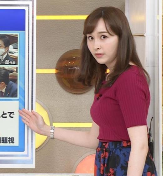 宇賀神メグ 美人アナの極上ニットおっぱいキャプ画像(エロ・アイコラ画像)