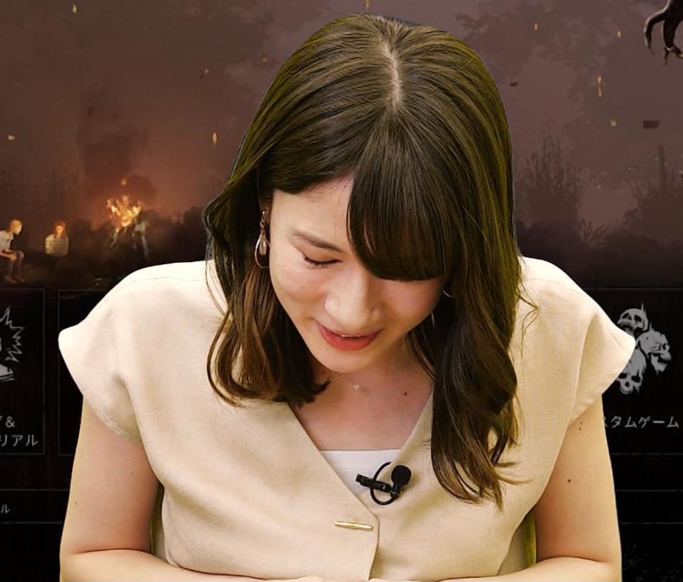 宇内梨沙アナ ワキ全開キャプ・エロ画像