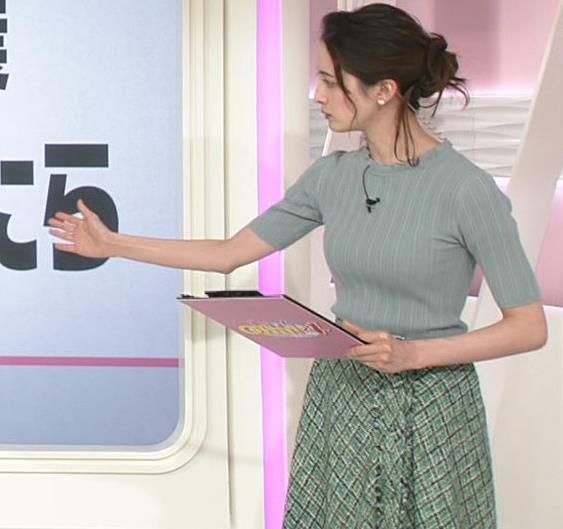 後呂有紗アナ 細身なのに胸はありそうキャプ・エロ画像2