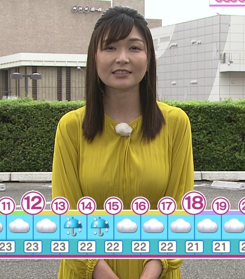 山神明理 おっぱいクッキリ(NHKおはよう日本のお天気)キャプ・エロ画像