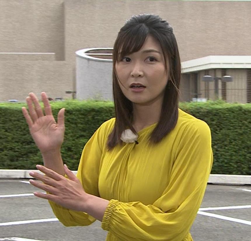 山神明理 おっぱいクッキリ(NHKおはよう日本のお天気)キャプ・エロ画像4