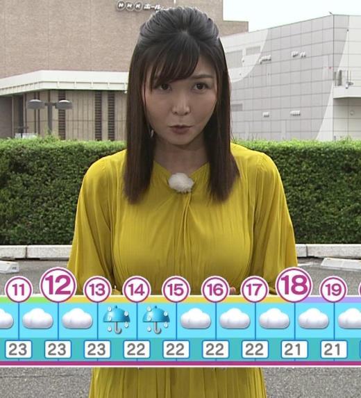 山神明理 おっぱいクッキリ(NHKおはよう日本のお天気)キャプ画像(エロ・アイコラ画像)