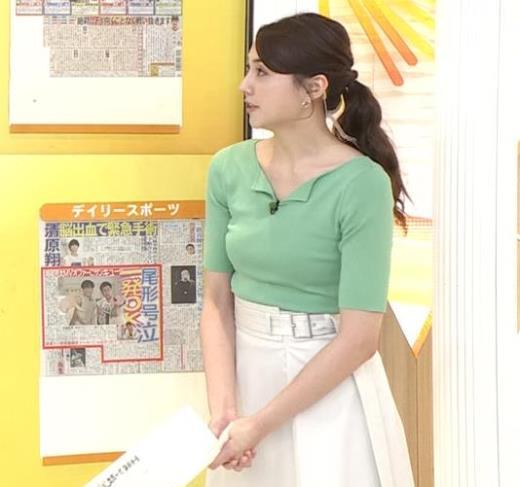 山形純菜アナ 胸エロキャプ画像(エロ・アイコラ画像)