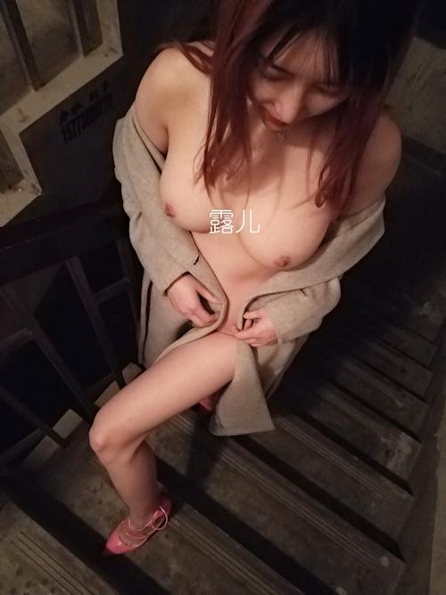 ナイスボディな中国美女の野外露出ヌード画像 7