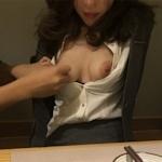 スーツ女性社員の性接待画像