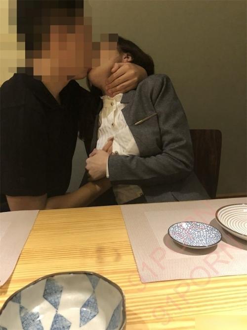 スーツ女性社員の性接待画像 7