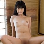 黒髪ストレートロングヘアー清楚系美少女ヌード画像