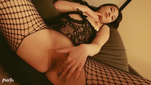 モデル系網タイツ美女の自分撮りヌードとフェラ&ハメ撮り画像 9