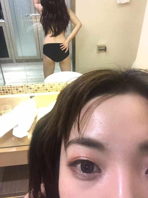 巨乳な香港素人美女の自分撮りヌード流出画像 13