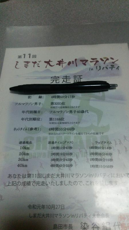 島田大井川マラソン 2019