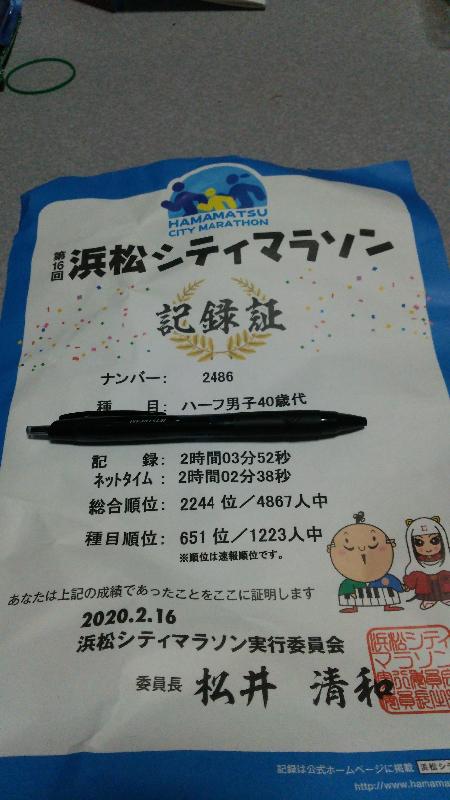 浜松シティマラソン 2020
