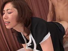 【無】息子のムスコに汗だくになって喘ぎまくる爛れた母子の姿をご覧くださいwww