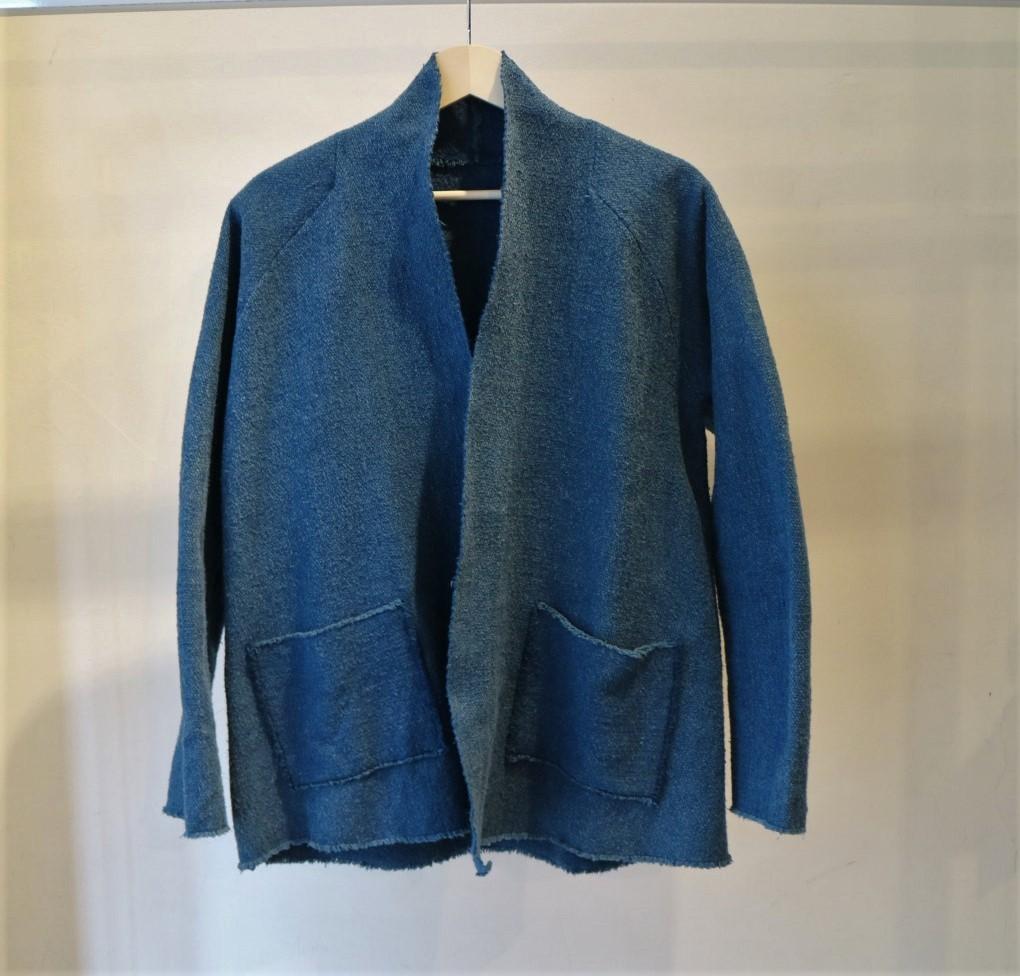 OGガラ紡ジャケット藍×胡桃
