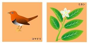 愛媛県の鳥と花