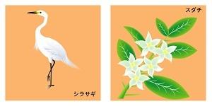 徳島県の鳥と花