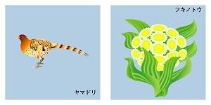秋田県の鳥と花