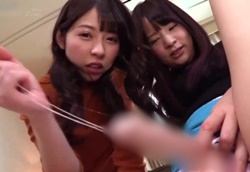 罵倒JOI 彼女の友達にローションディルドでセンズリ指示される。 あおいれな あべみかこ1