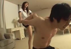 【M格闘】ドS女子M男暴行 セーラー服&体操着ブルマ2
