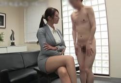 【痴女】パツパツスーツOL怜子さんの逆セクハラ面接 小男弄り!小早川怜子1