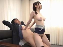 水卜さくら 専務を拘束し座位SEXと乳首舐め手コキで痴女る美肌美巨乳OL!1