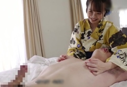 【痴女】浴衣ロリ痴女の乳首弄りで暴発射精!松本いちか2