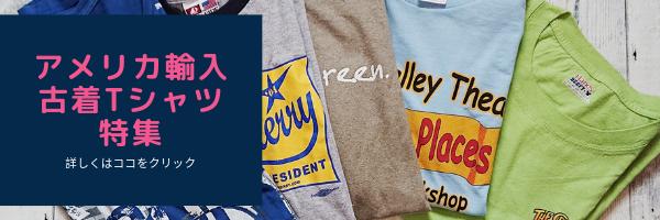 アメリカ輸入古着Tシャツ特集